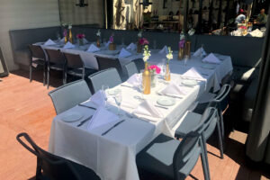 Beautiful private party set at the patio