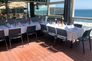 Private party set at the patio with ocean view