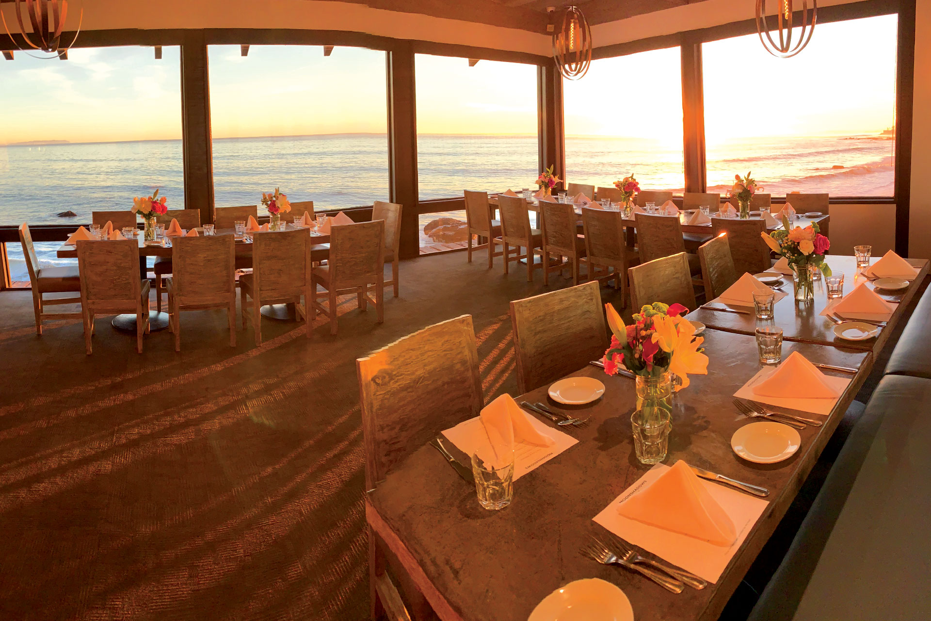 Private party set during sunset